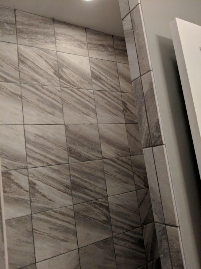 shower grouted