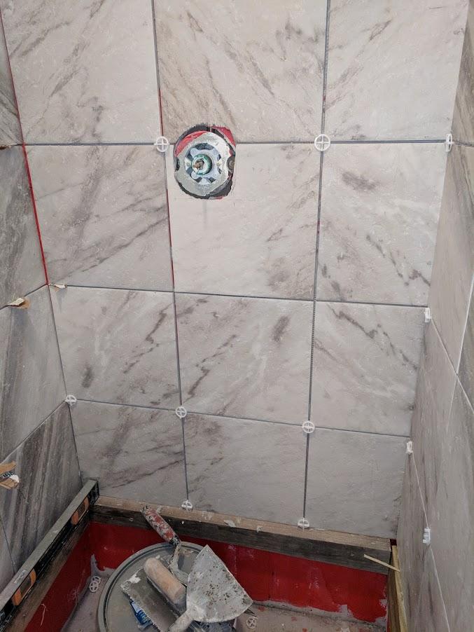 shower tile alignment