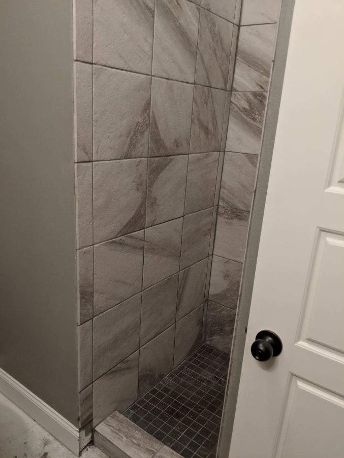 shower tile floor