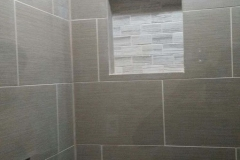 shower construction after