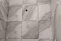 shower spacer placement